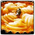 Spiced Poached Pear  Tart